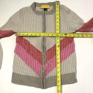 St. John Sweaters - St John size Small Wool Blend Chevron Sweater